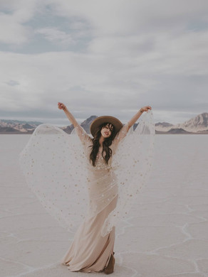 Salt flats shoot featuring the Lilith set