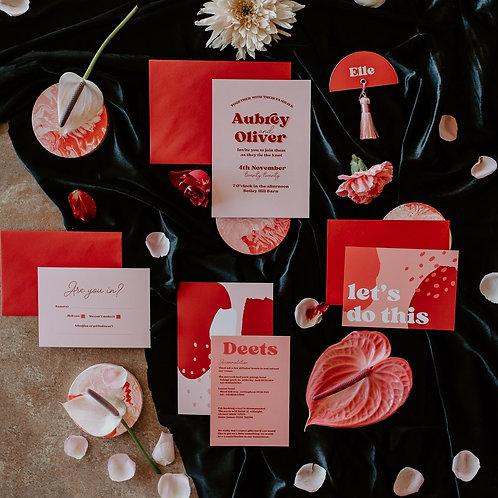 Aubrey Wedding Invitation
