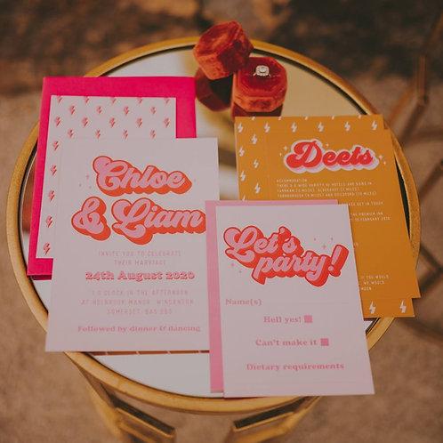 Cherry wedding invitation