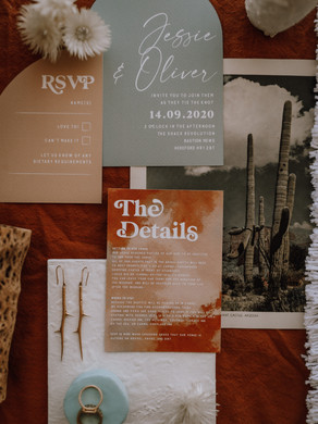 Wild hearts desert style elopement featuring the Pierra set