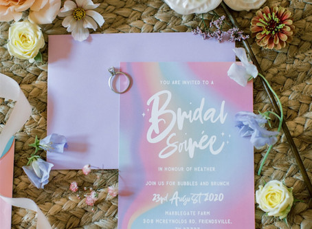 Irridescent pastel Bridal Soiree of dreams