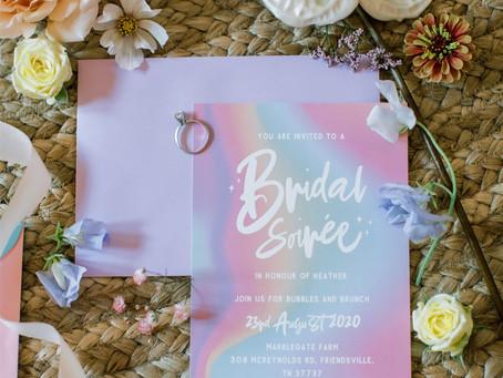 Irridescent pastel Bridal Soiree of dreams