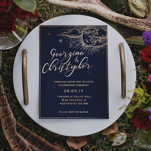 Luna Foiled Wedding Invitation