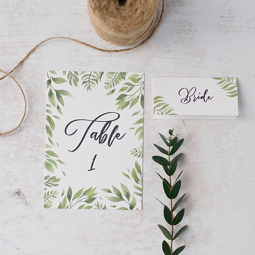 Willow Table numbers/names