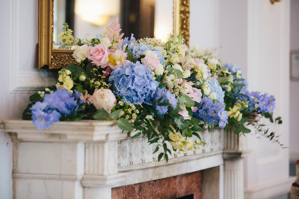 Fresh pastel wedding stationery, spring floral wedding stationery, pastel floral arrangement