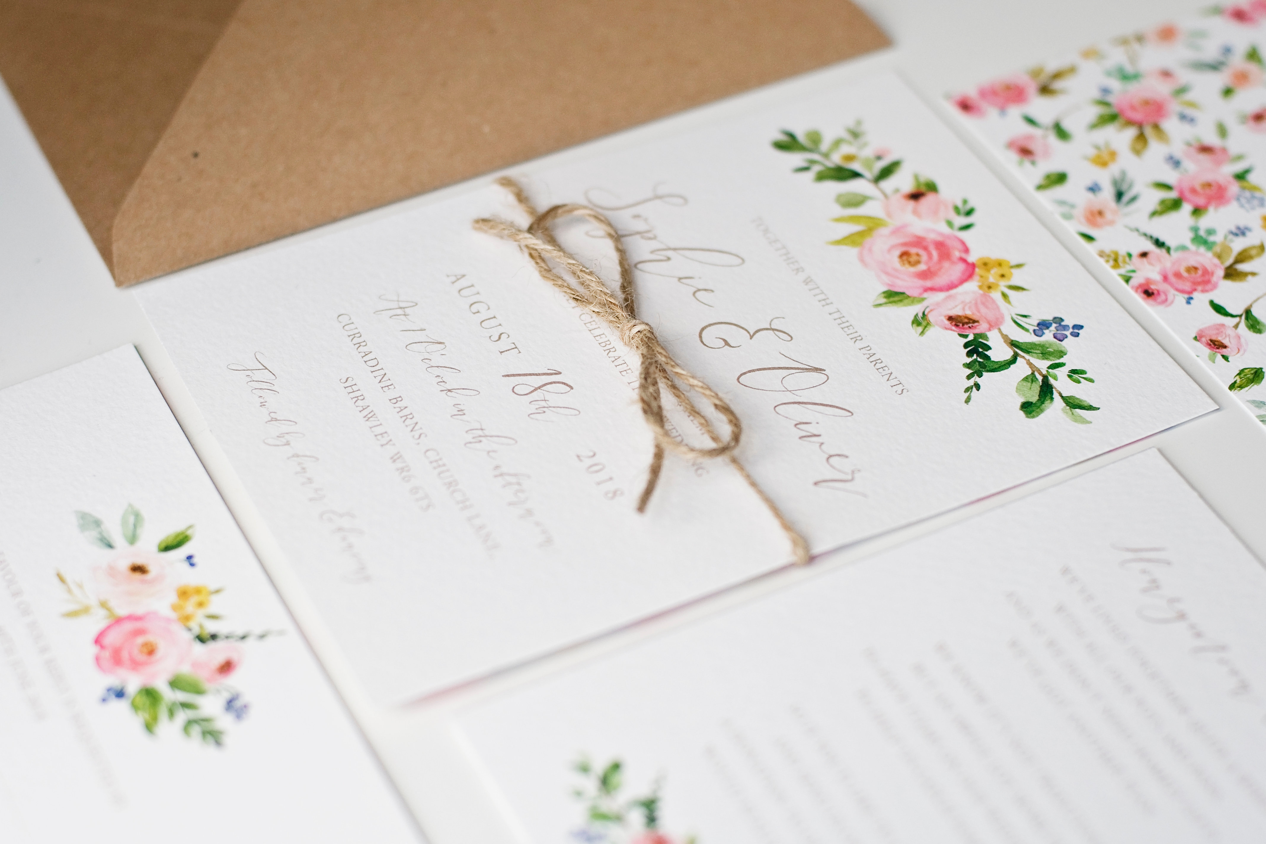 Peach Wolfe Paper Co | Wedding Stationery & Paper Goods | Blossom ...