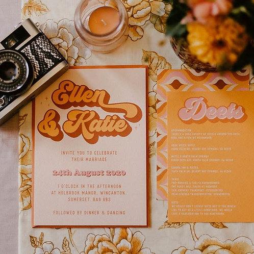Vixen Wedding Invitation