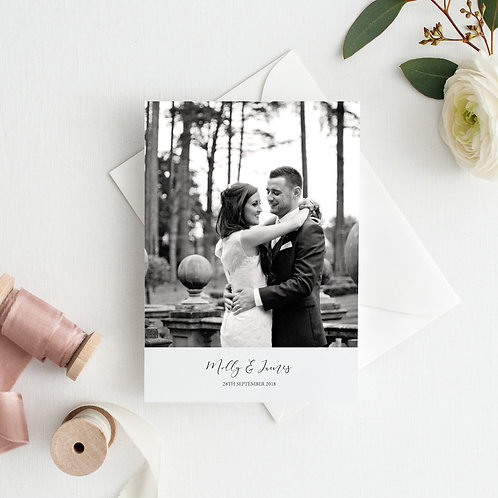 May Personalised Wedding Photo Thank You Cards - Minimum order of 20