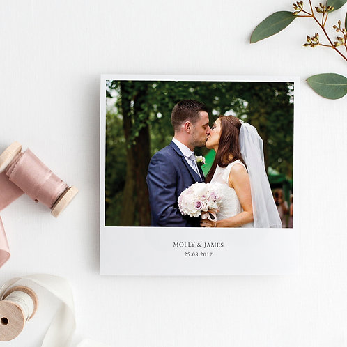 Molly Personalised Wedding Photo Thank You Cards - Minimum order of 20