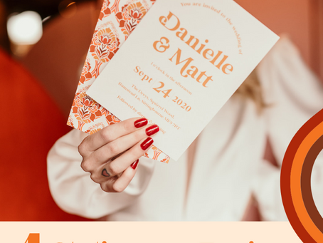 4 Stationery designs to set the tone for your 70's wedding!