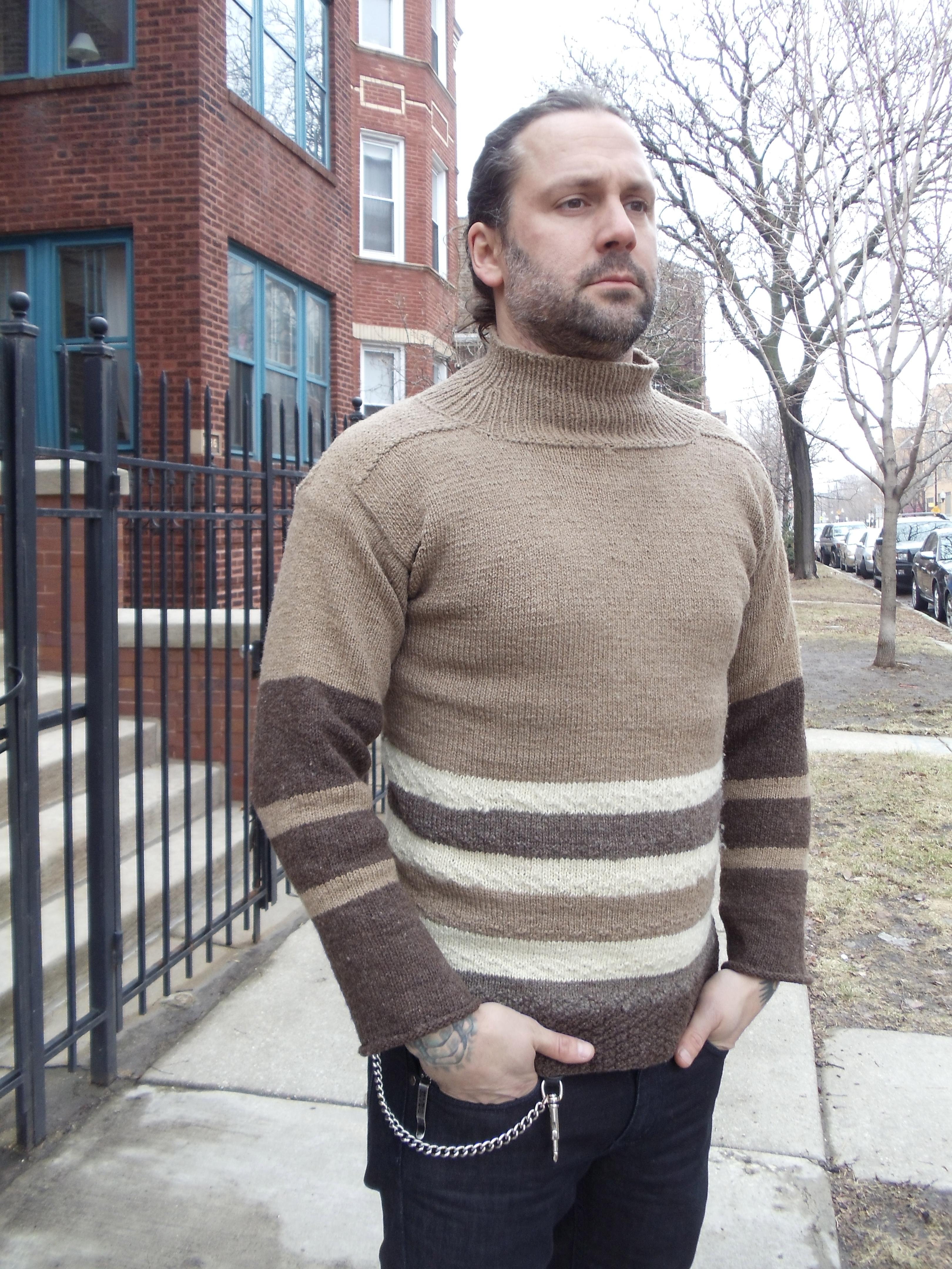 saddle-shoulder sweater