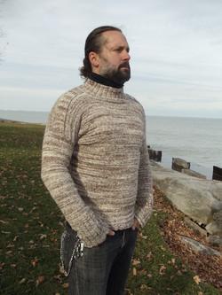 alpaca/wool blend handspun sweater
