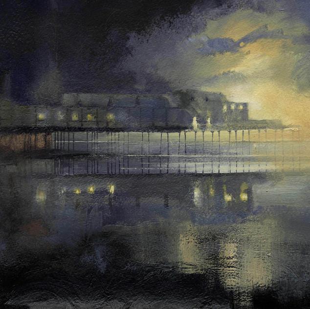 99 Aberystwyth Pier Sunset oils