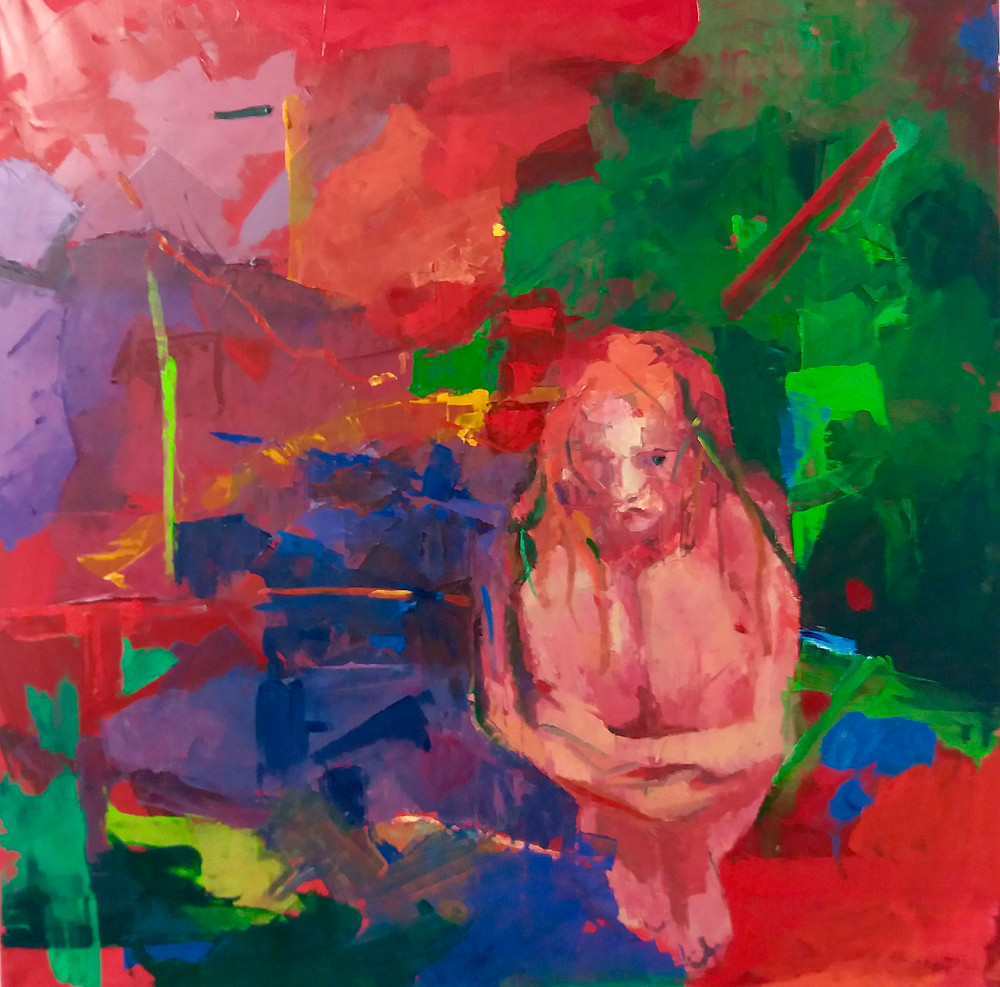 Desert, by Dagna Gmitrowicz, oil on canvas, 100x100 cm