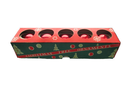 Joulukuusen koristepallot punaiset 5kpl