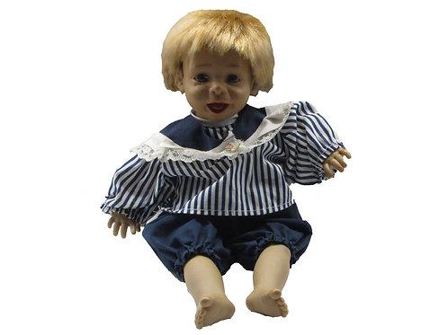 Vanha keräilynukke / lelunukke pituus 38cm, poikanukke