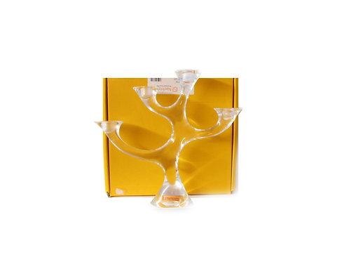Adventti kynttilänjalka, lasikynttilänjalka, desing lasi