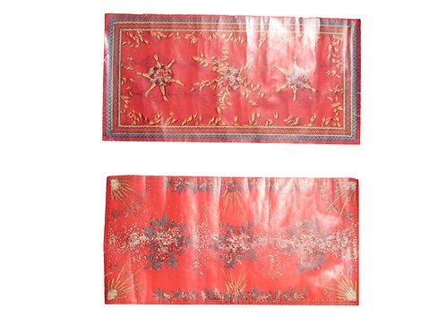 Vanha joulupaperi kaitaliina, kaksipuolinen 27cm x 55cm