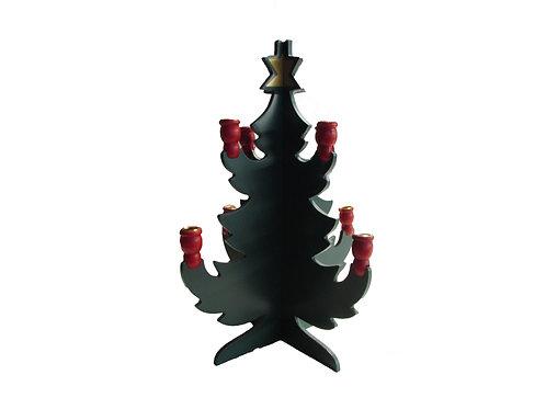 Vanha joulukuusi - joulukuusi kynttilänjalaksi