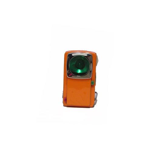 Retro oranssi taskulamppu, punainen/vihreä valo