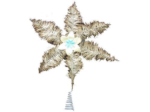 Latvatähti foliokukka koristeella valmistettu kuparilangasta