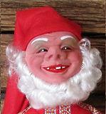 Vanha joulukoriste, joulutonttu, tonttu, joulupukki, joulukoristemuseo, Arne Hasle, tomtenisse, tomte, Canta Claus, Heissner