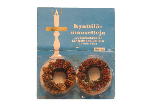 Kynttilämansetit 2kpl alkuperäispakkauksessa