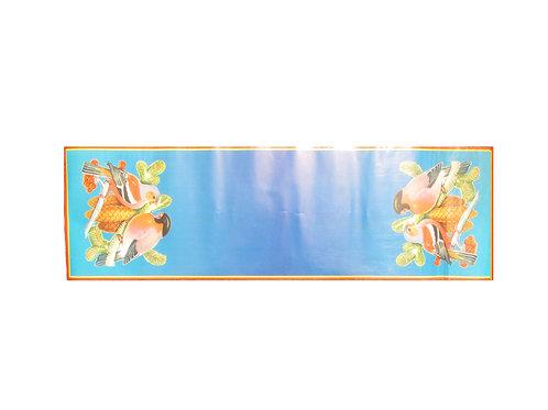 Vanha joulupaperi kaitaliina, Punarinta ja kävyt. 26cm x 85cm