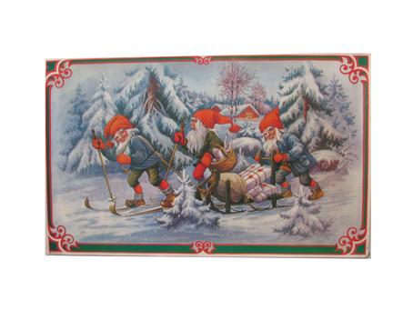 Vanhat joulukoristeet -paperitaulut