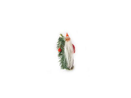 Vanha joulukoriste, joulupukki ja joulukuusi. Käpy tonttu, piipunrassitonttu