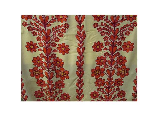 Retro verhot -70 luvulta, kukkaköynnös