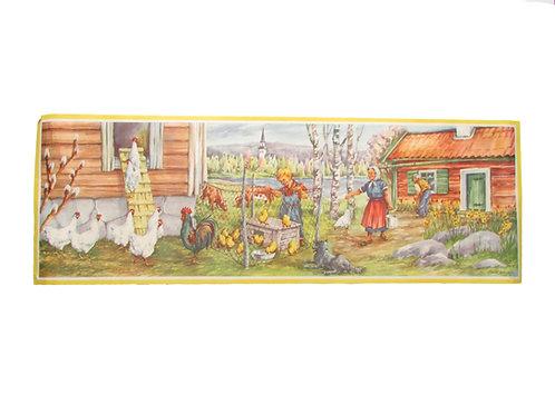 Vanha pääsiäispaperitaulu, pääsiäis, pääsiäinen