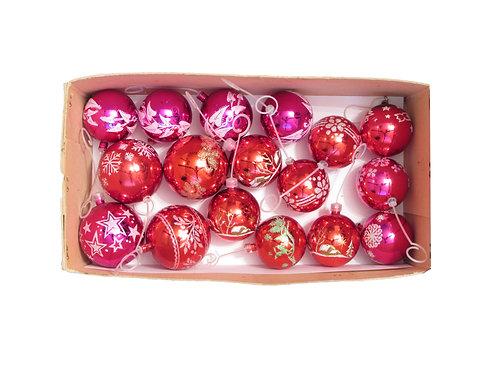 Retro joulukuusen koristepallot, hilekoristepallot, vanhat joulukoristeet