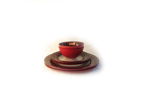 Murokulho lasia punainen, syvä lautanen punainen, matala lautanen punainen