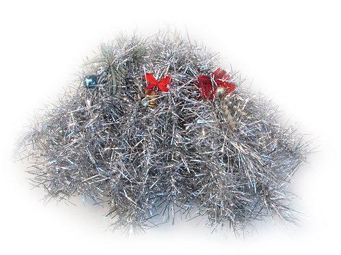 Joulukuusenkoristeita 9kpl. lasipallo, lasipitki ja tiuku
