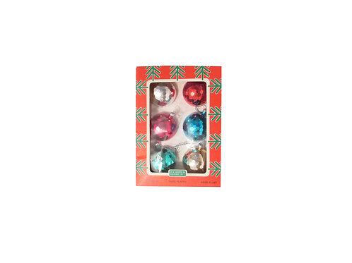 K.A Weiste tehtaan joulukuusen pallot alkuperäispakkauksessa