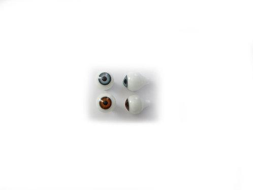 Nuken lasisilmät - antiikkinukelle 16mm