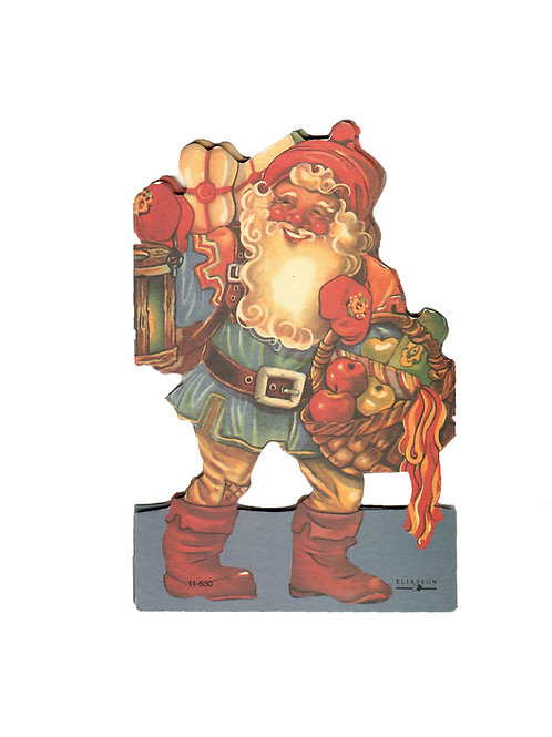 Tontturivi, tonttuhaitari, vanha pahvikoriste. Joulupukki ja lahjakori, perinnekoriste