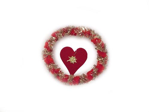 Vanha joulukuusen koriste -60 luvulta. Polymeerisydän