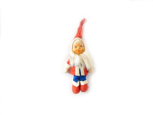 Sahapurutäytteinen vanha joulutonttu, joulutonttu nukke