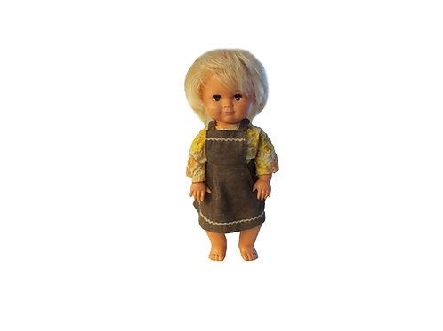 Vanha lelu, nukke Polar Vihti Finland, Polar nukke, Suomalainen nukke