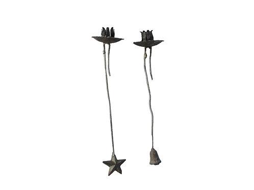 Kynttilänpidikkeitä, tähti ja kello painolla 7kpl