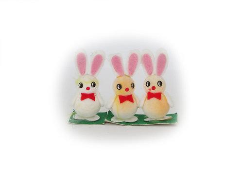 Vanha pääsiäiskoriste - pääsiäispupu lapset 3kpl