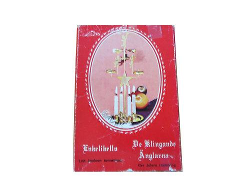 Vanha enkelikello -60 luvulta. Alkuperäinen punainen pakkaus