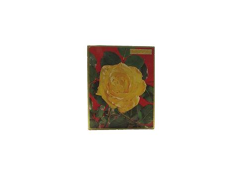 Ruusu suklaarasia, vanha pahvipakkaus, Fazer suklaarasia