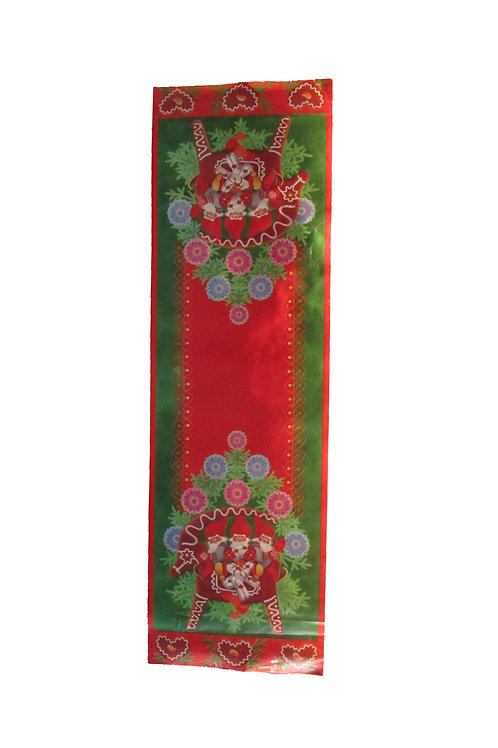 Vanha joulupaperi kaitaliina -60 luvulta, tontut ja pipariporo