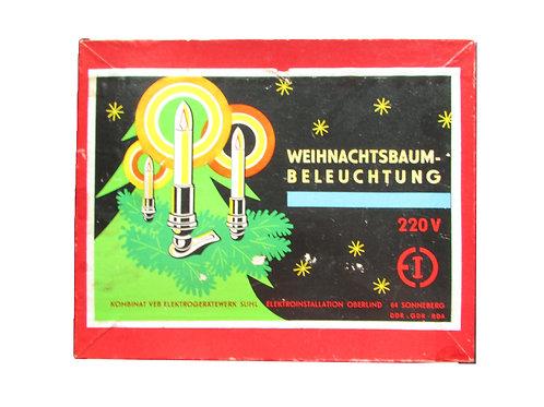 Vanhat joulukuusen sähkökynttilät -50 luvulta. 10 kynttilää