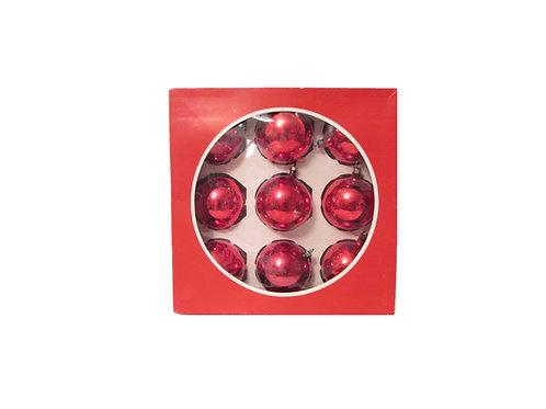 Joulukuusen punaiset koristepallot 9kpl. Halkaisia 60mm