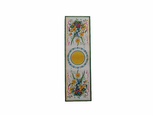 Vanha pääsiäispaperiliina, kukkakimppu. Paperitaide -70 luku