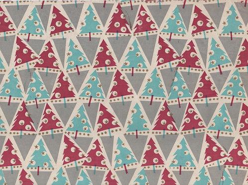 Vanhaa pulaajan joulupaperia / käärepaperia -40 luvulta